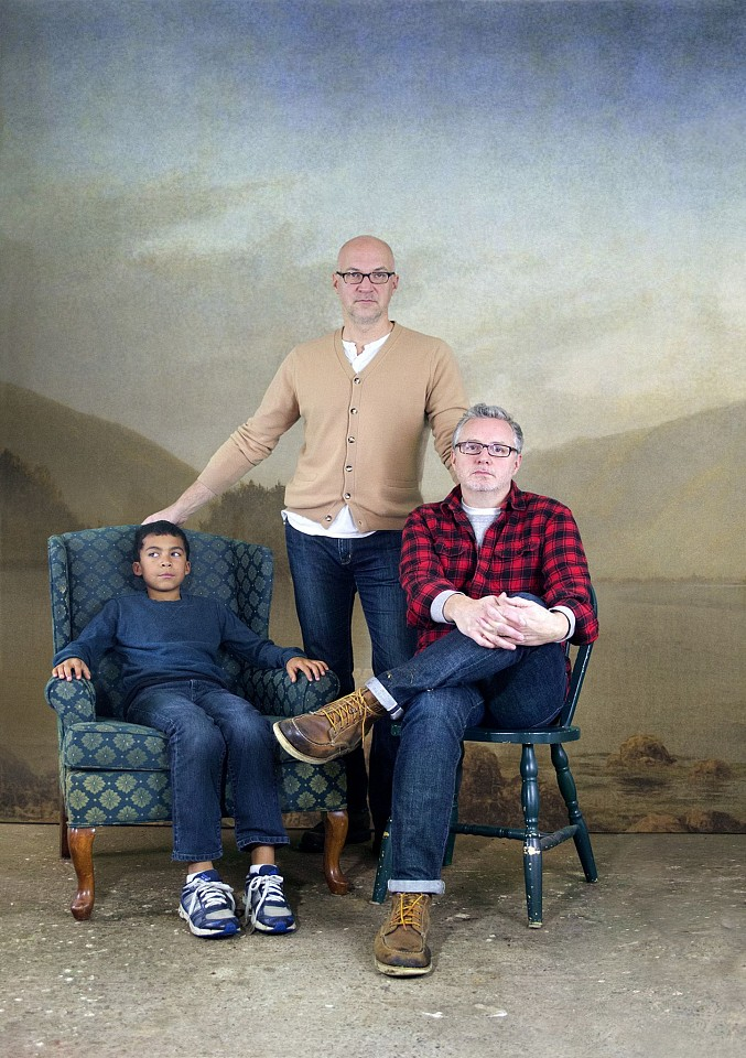 Oliver Wasow, Michael, David and Chris 2014, Archival inkjet